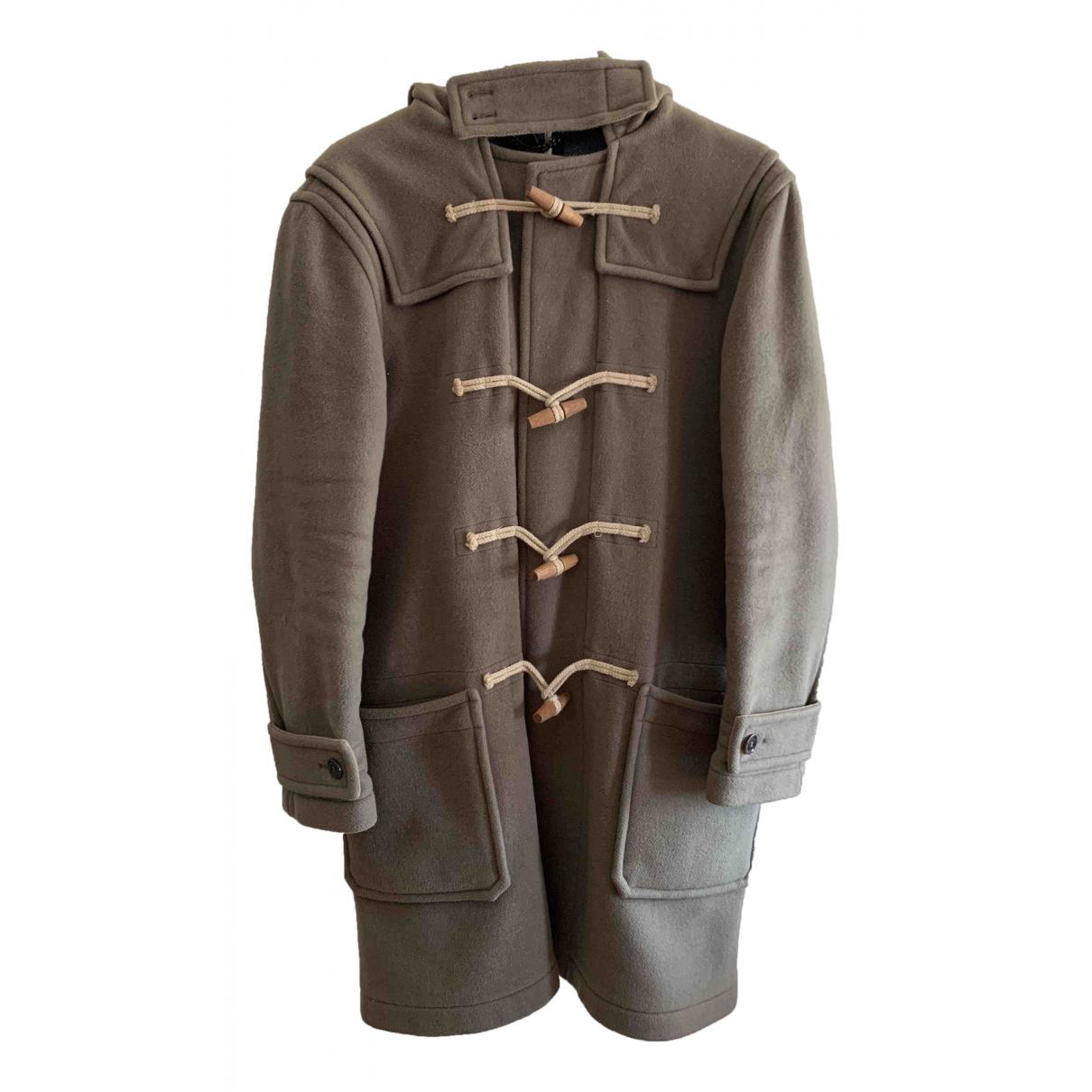 Burberry - Manteau   pour homme en laine - kaki