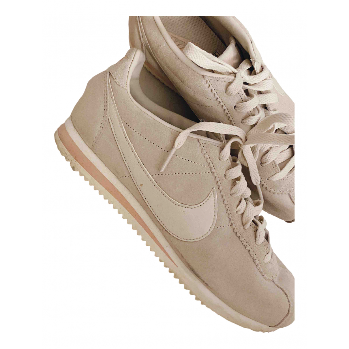 Nike Cortez Pink Leather Trainers for Women 40 EU