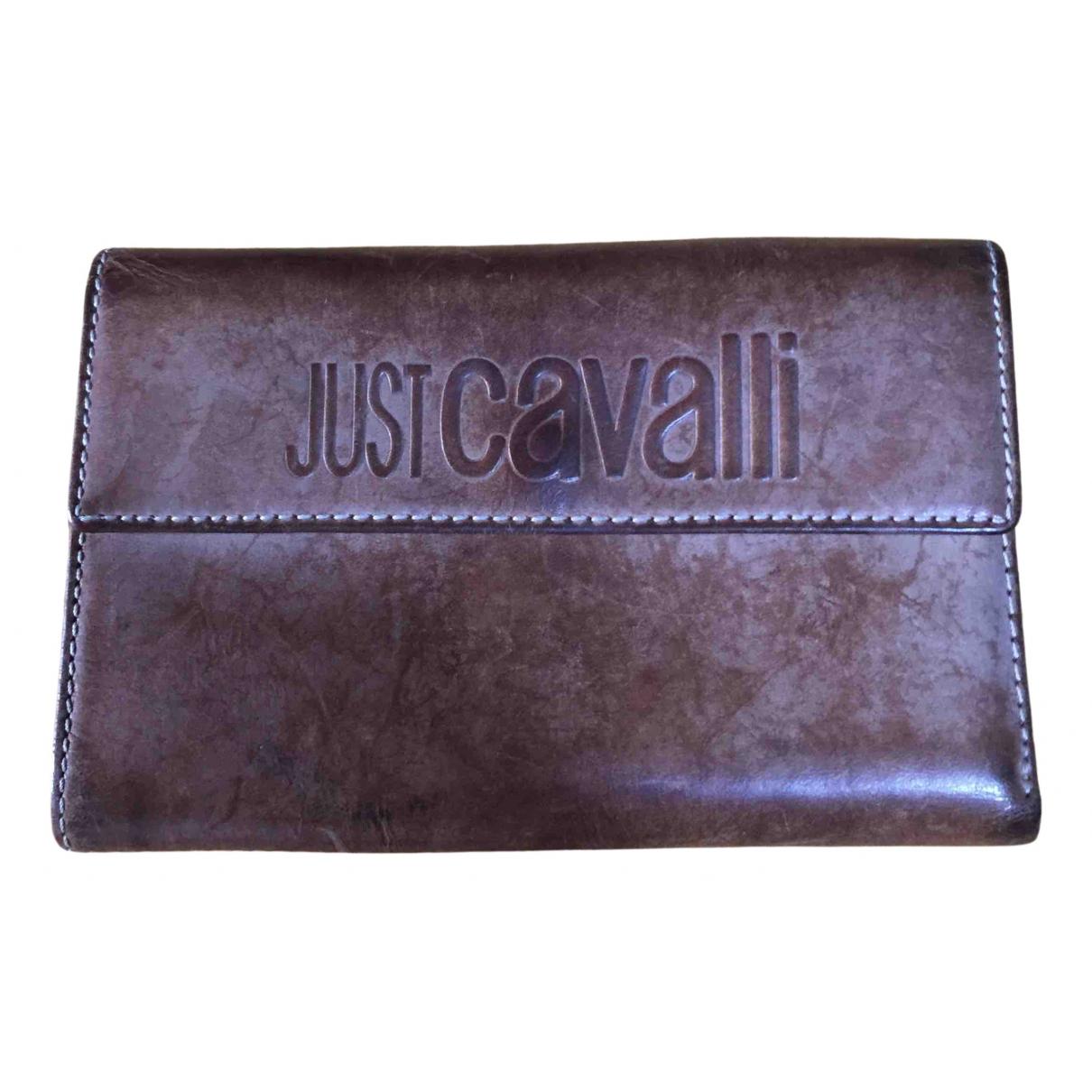 Just Cavalli - Portefeuille   pour femme en cuir - marron