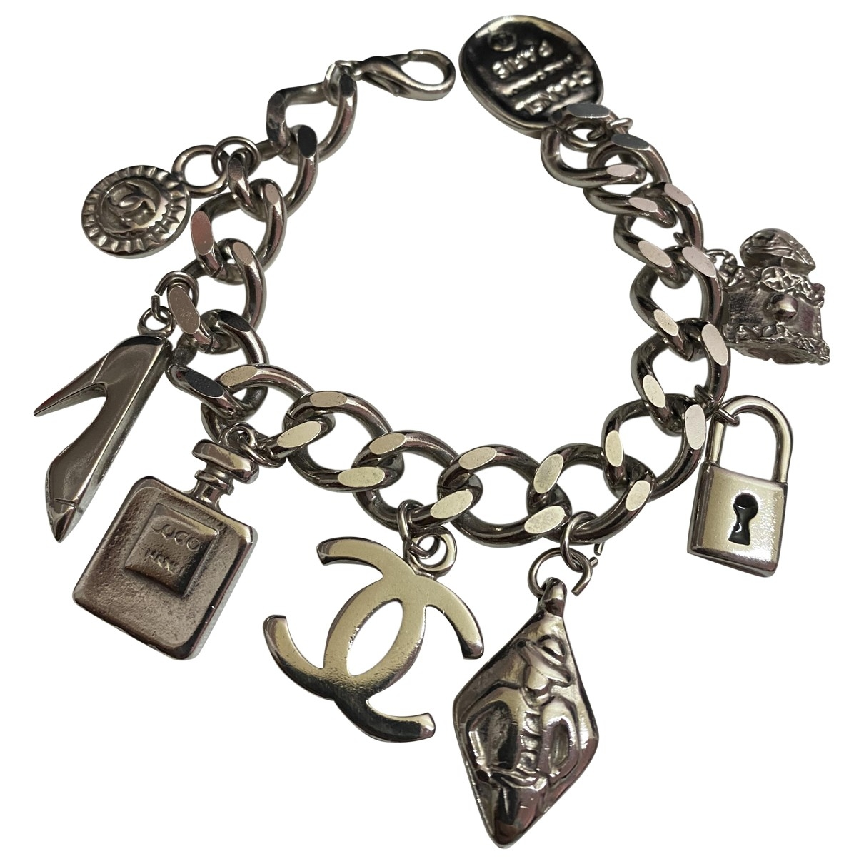 Chanel \N Armband in  Silber Metall