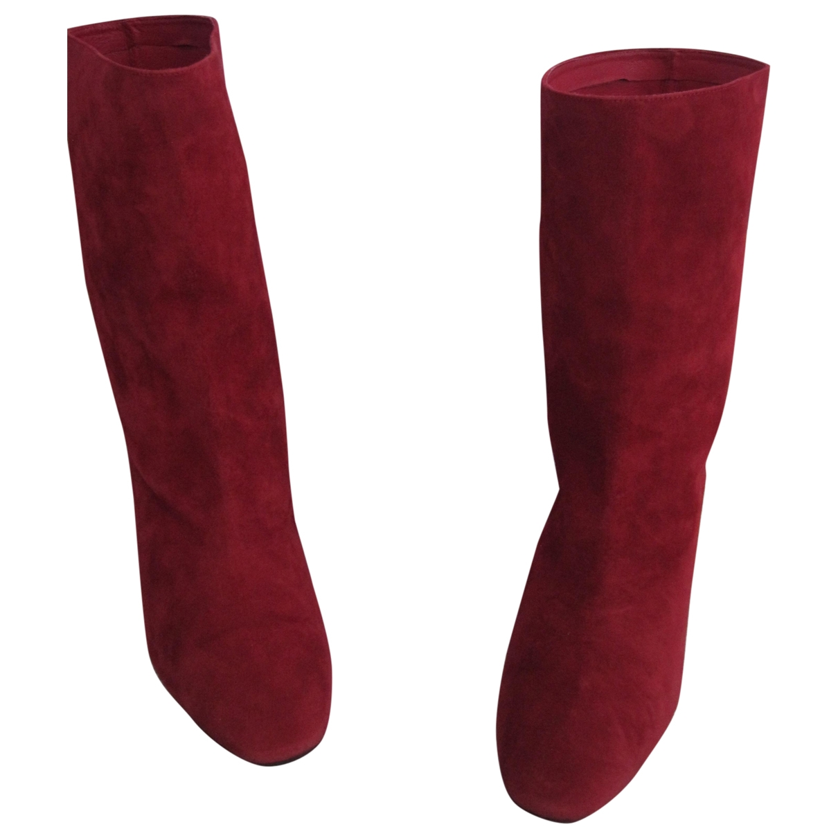 Aquazzura \N Stiefeletten in  Rot Veloursleder