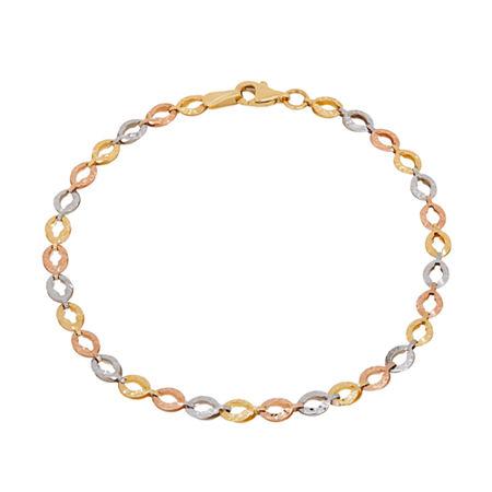 14K Gold 7.5 Inch Link Link Bracelet, One Size , No Color Family