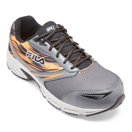 Fila Memory Meiera 2 Composite Toe Slip-Resistant Work Shoes Mens Running Shoes, 9 Medium, Gray