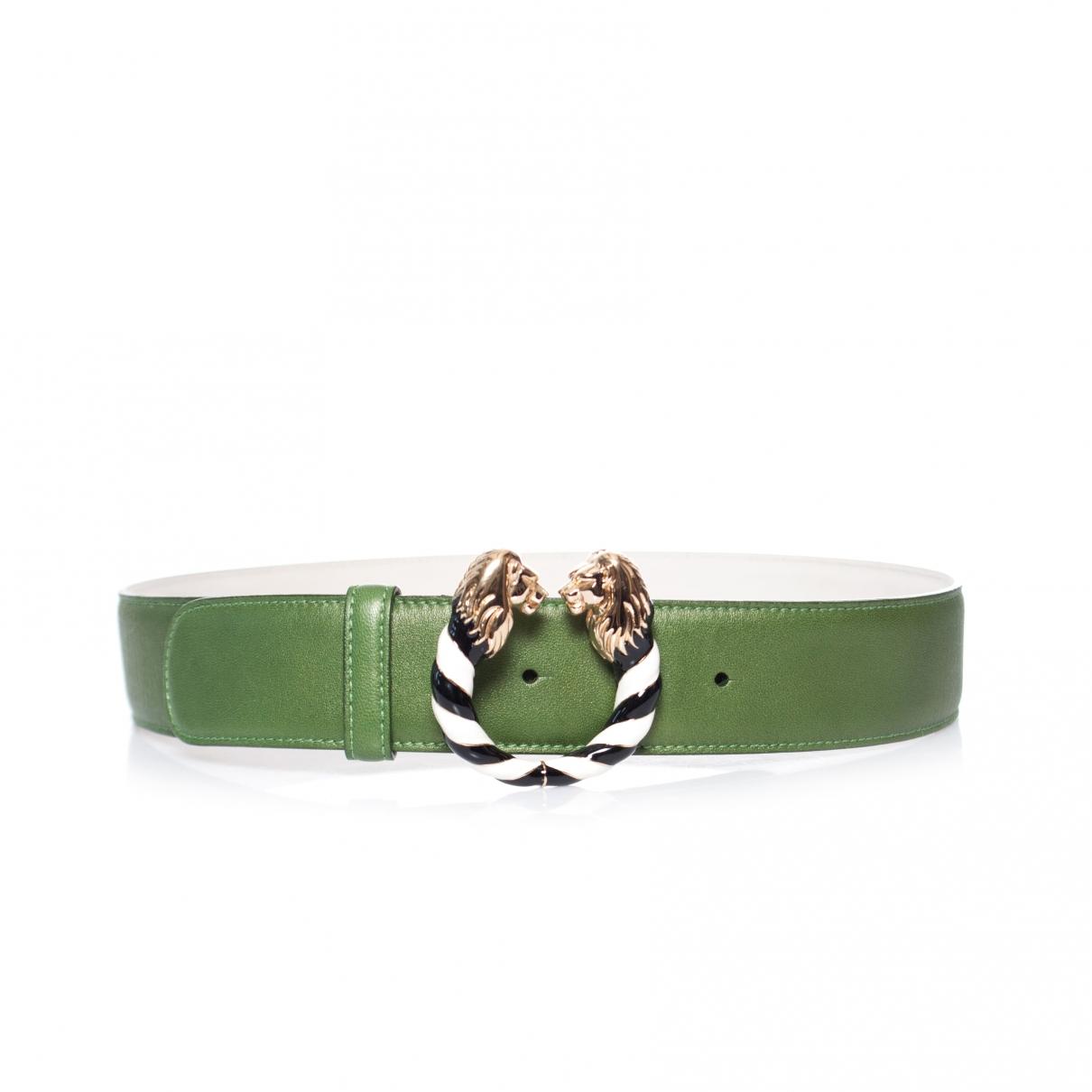 Bvlgari \N Green Leather belt for Women S International