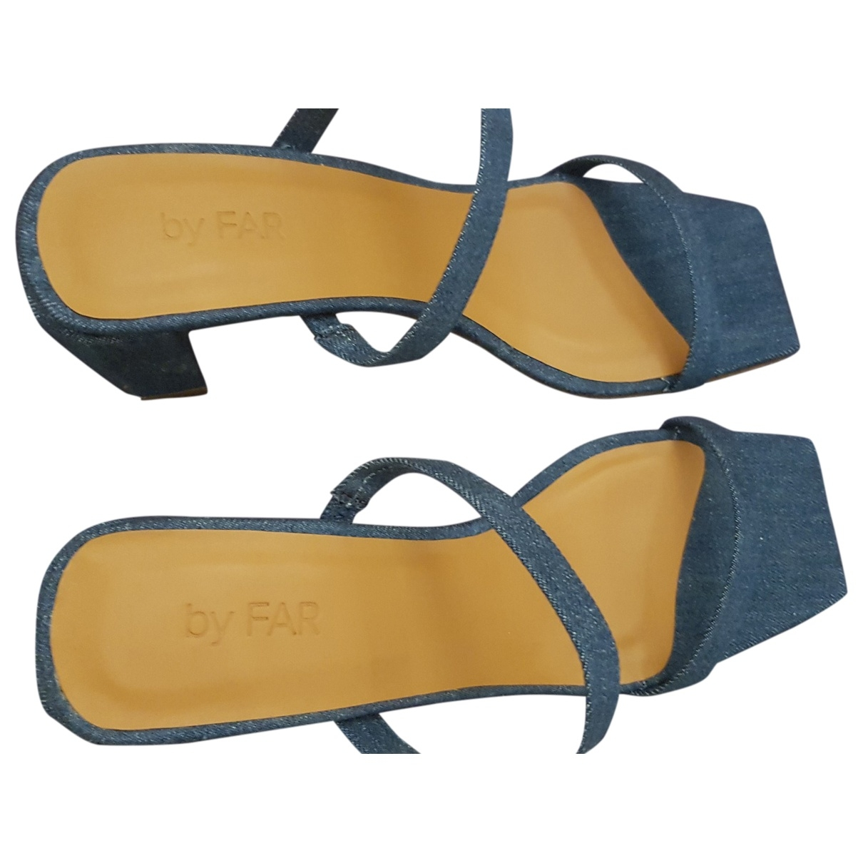 By Far \N Blue Cloth Sandals for Women 40 EU