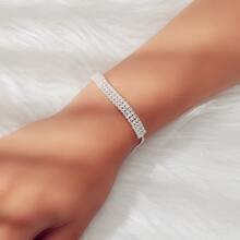 Verstellbarer Armband mit Strass Dekor