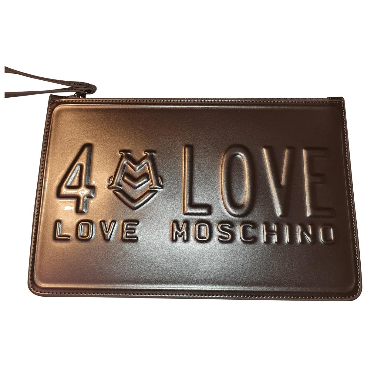 Pochette de Cuero Moschino Love