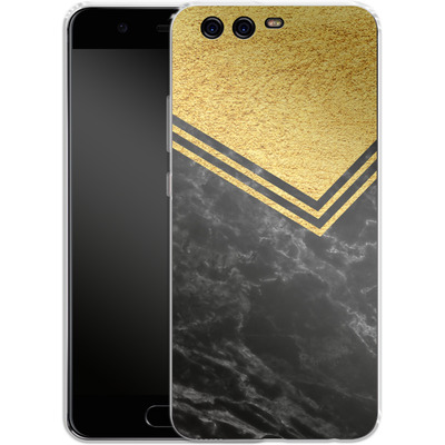 Huawei P10 Silikon Handyhuelle - Gold Marble von caseable Designs
