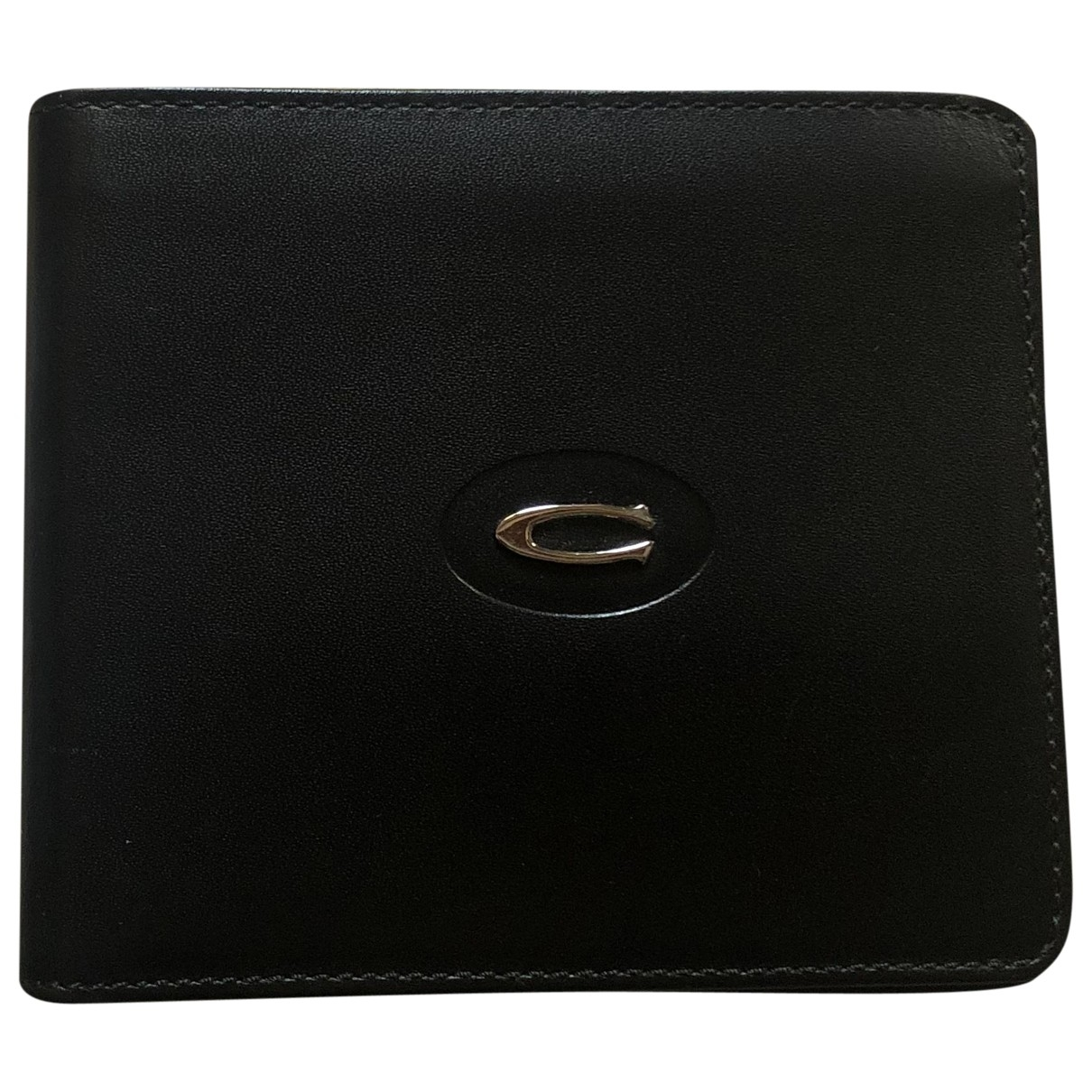 Cerruti \N Kleinlederwaren in  Schwarz Leder