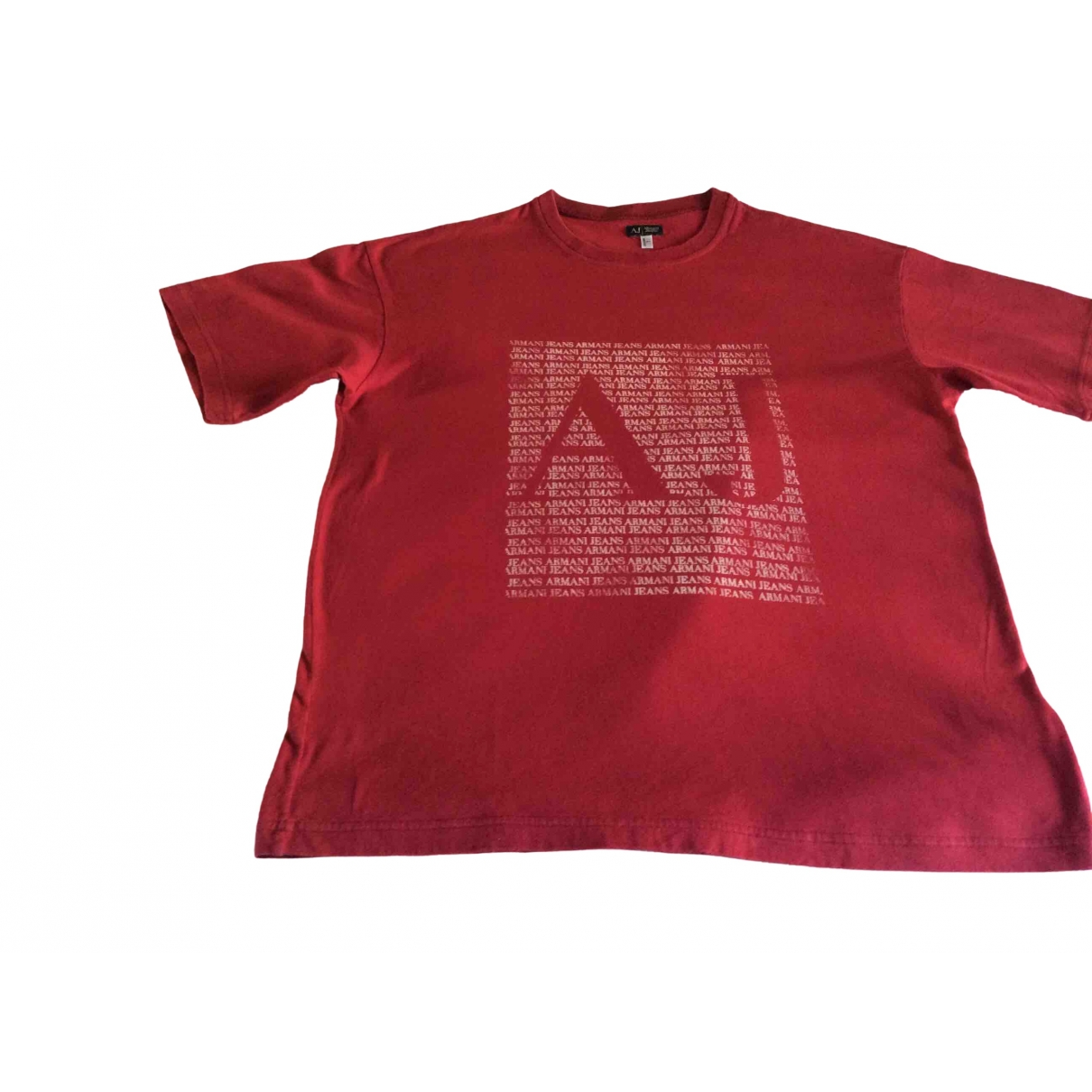 Armani Jeans \N Red Cotton T-shirts for Men L International