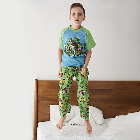 Little & Big Boys 2-pc. Minecraft Pajama Set, 6 , Green