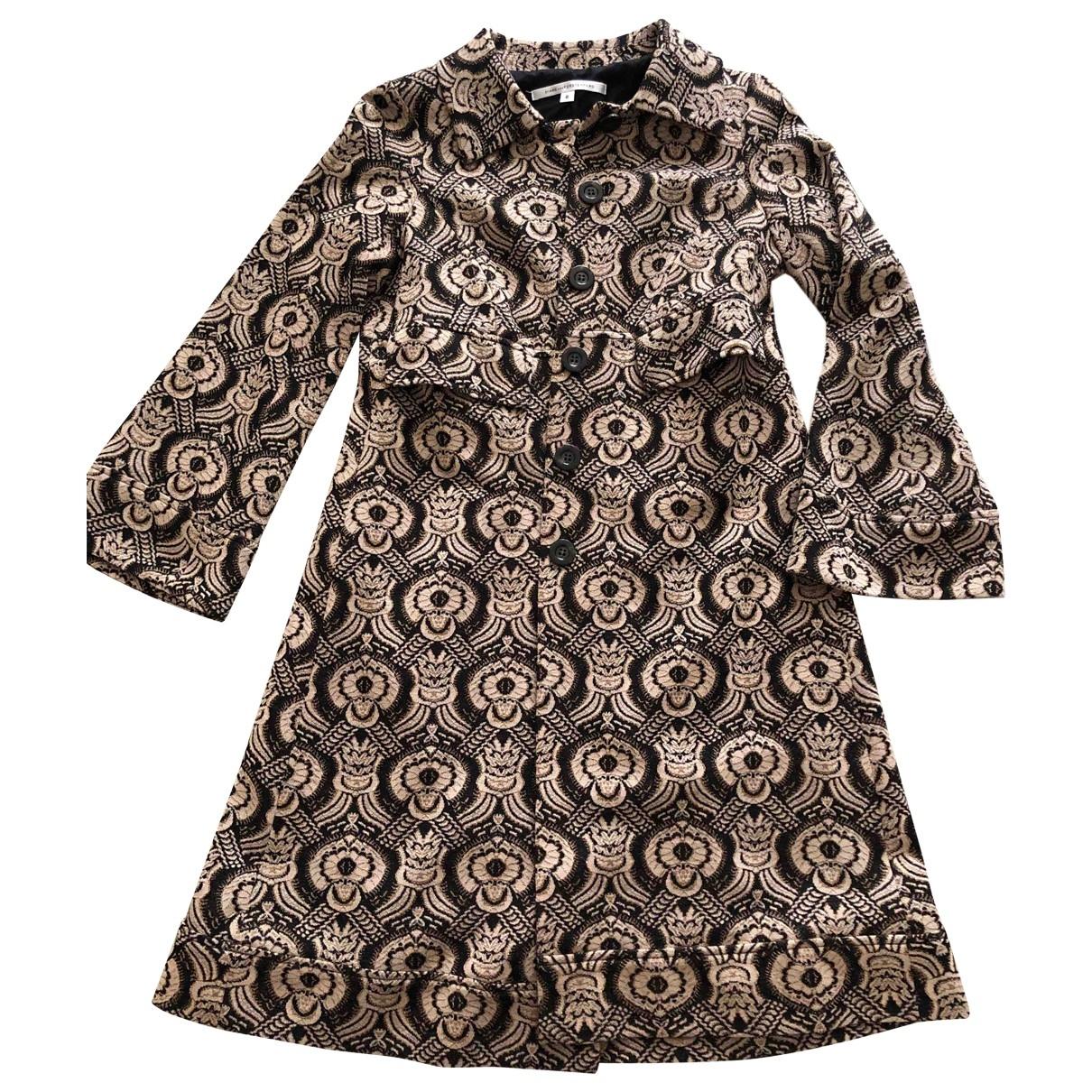 Diane Von Furstenberg \N Maentel in  Beige Wolle
