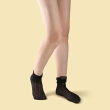 Polka Dot Mesh Socks