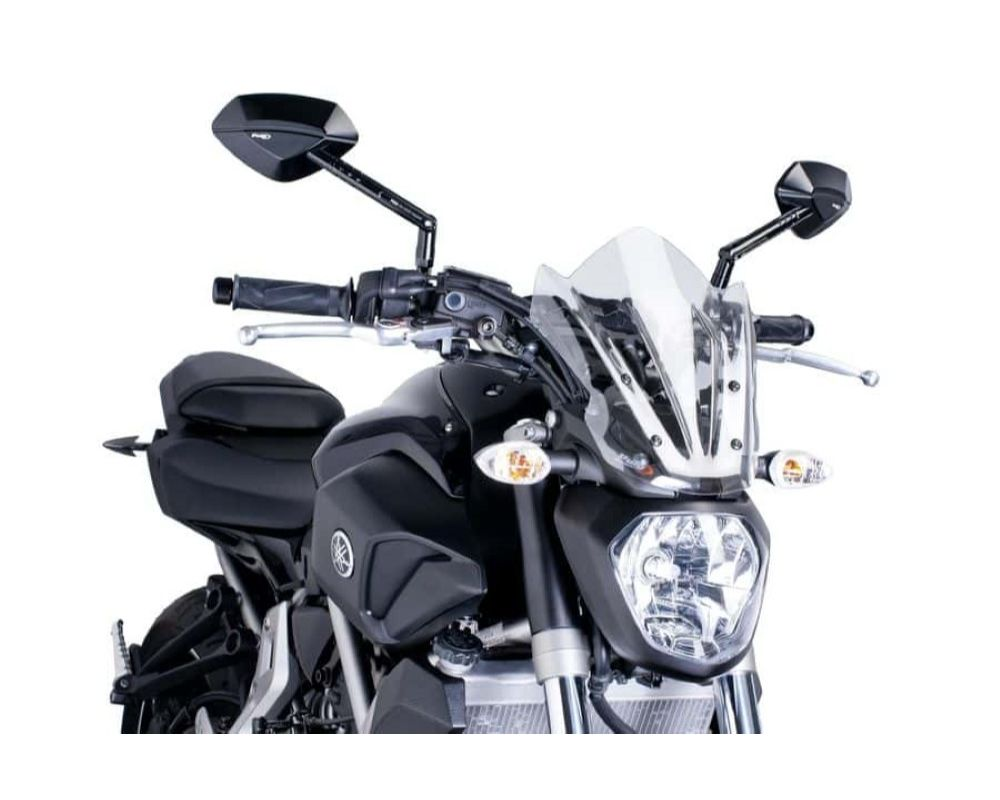Puig 7015W Naked New Gen Sport Windscreen - Clear Yamaha MT-07 2014