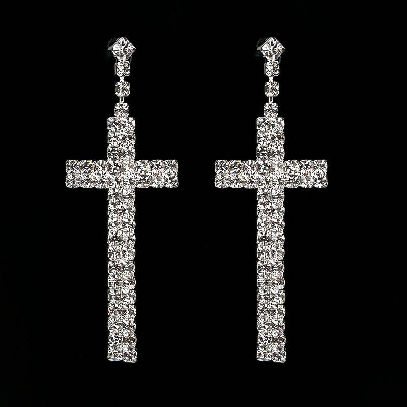 Ericdress Rhinestone Diamante Romantic Party Prom Earrings
