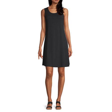a.n.a Sleeveless Shift Dress, Xx-large , Black