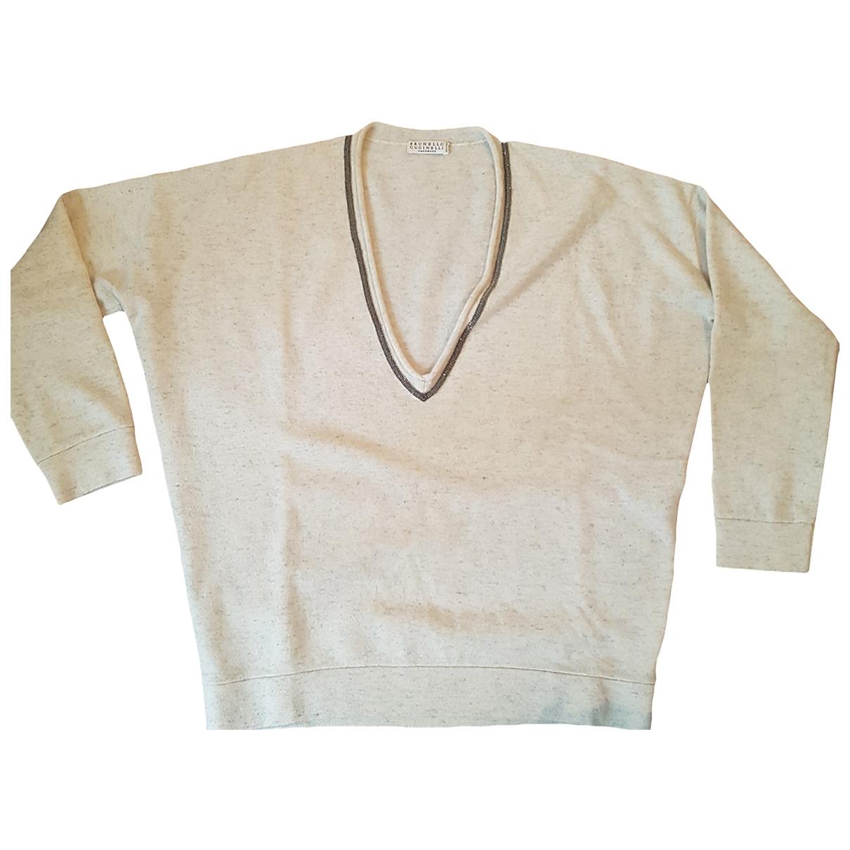 Brunello Cucinelli \N Pullover in  Beige Kaschmir
