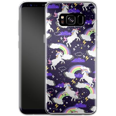 Samsung Galaxy S8 Silikon Handyhuelle - Unicorn Blue von Mukta Lata Barua
