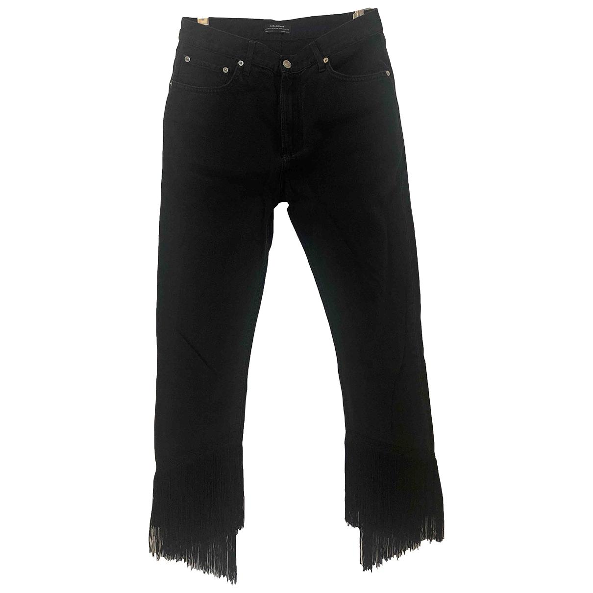 Zara \N Black Cotton Jeans for Women 26 US