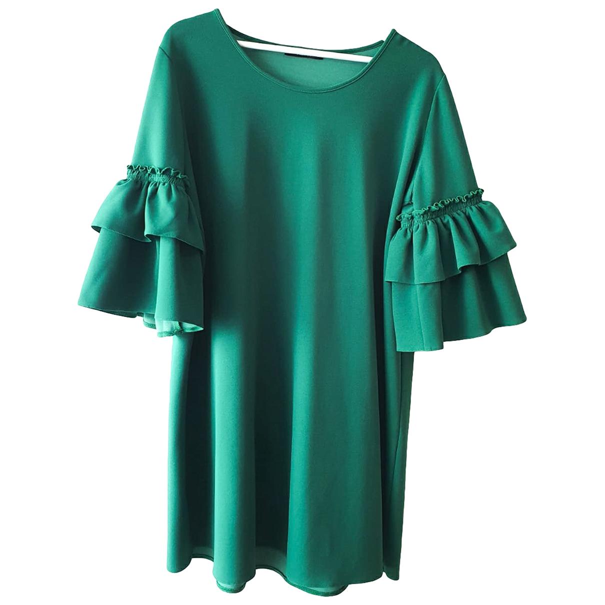 - Robe Manche ballon pour femme - vert