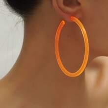 1 Paar Neon Orange Creolen