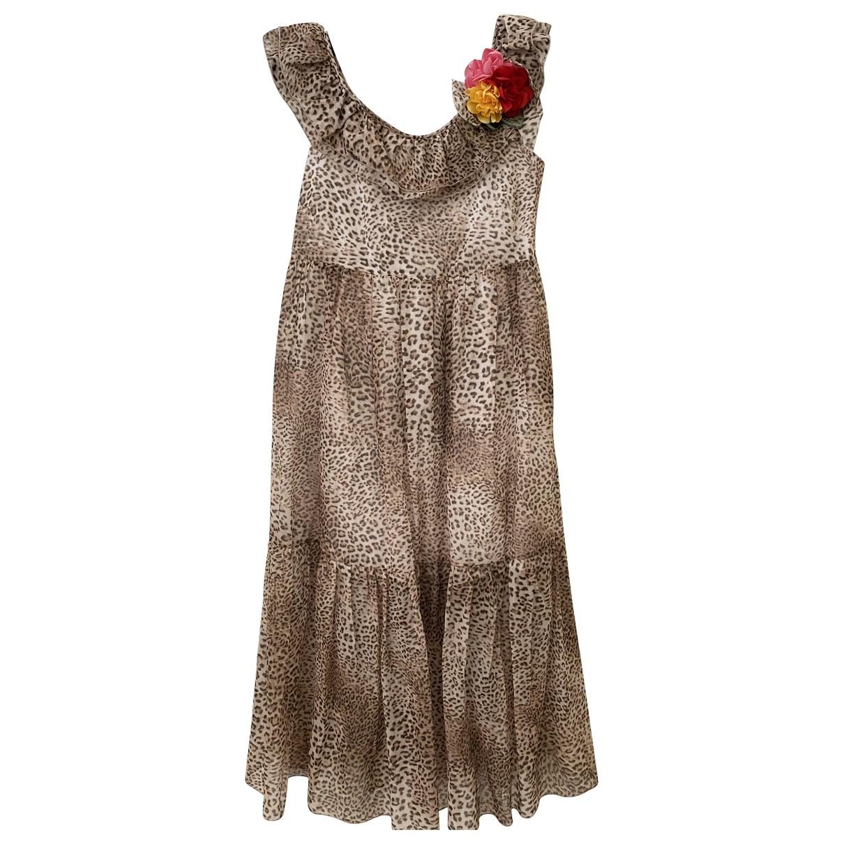 Monnalisa \N Kleid in  Braun Baumwolle