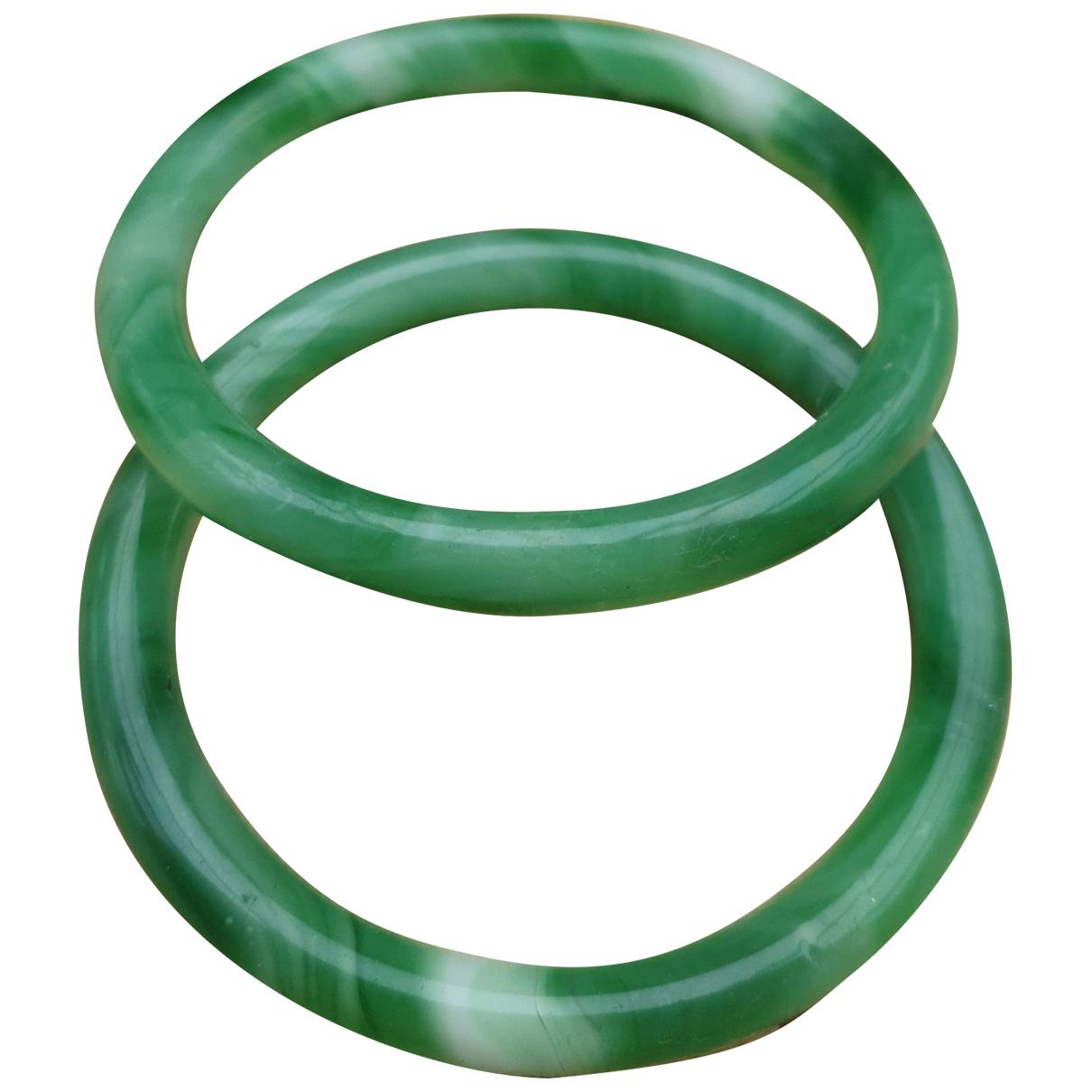 - Bracelet Jonc pour femme en jade - vert
