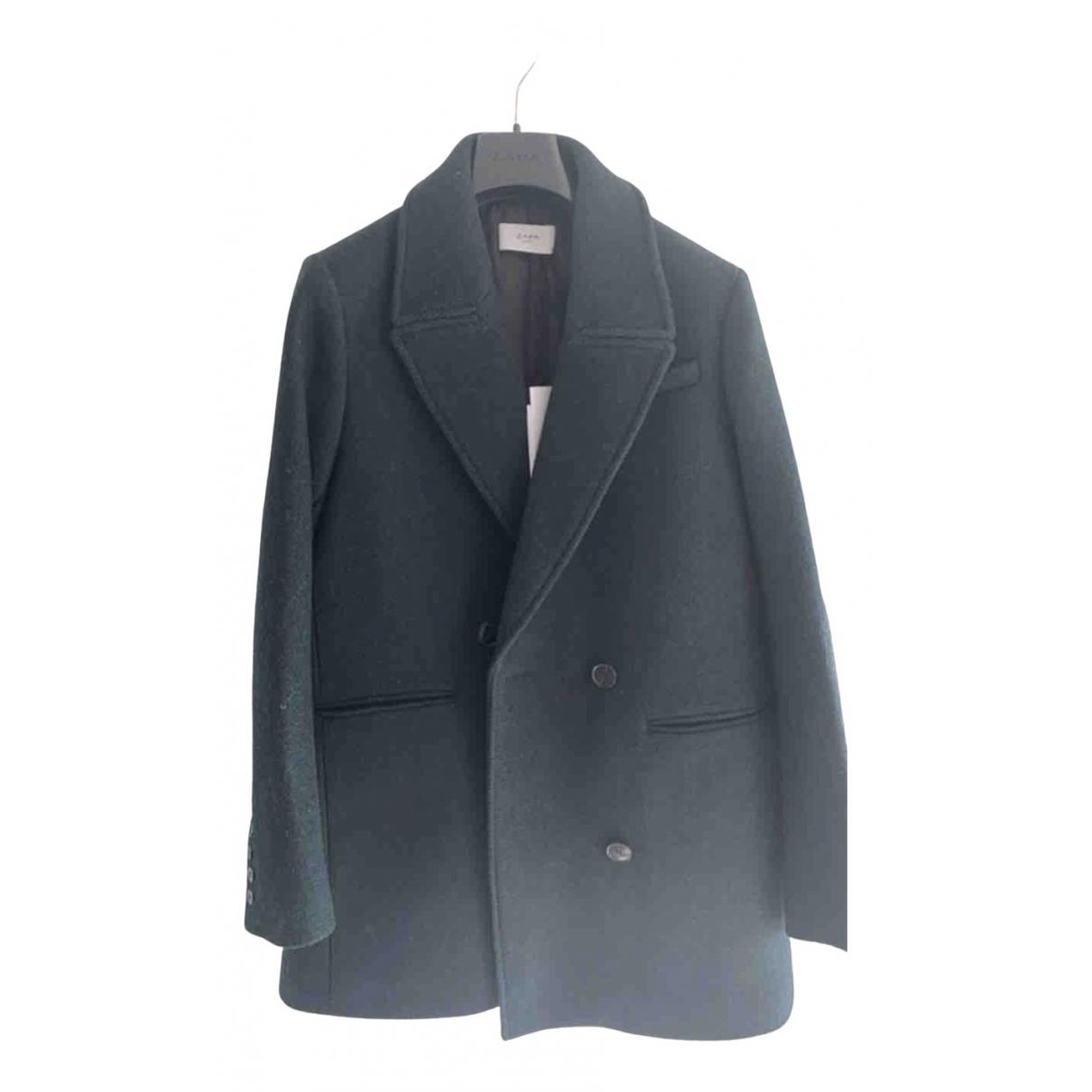 Zapa - Manteau   pour femme en laine - vert
