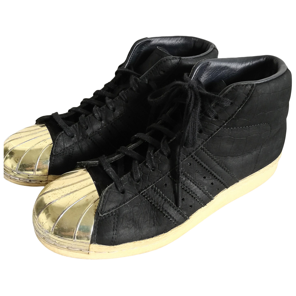 Adidas Superstar Sneakers in  Schwarz Leder