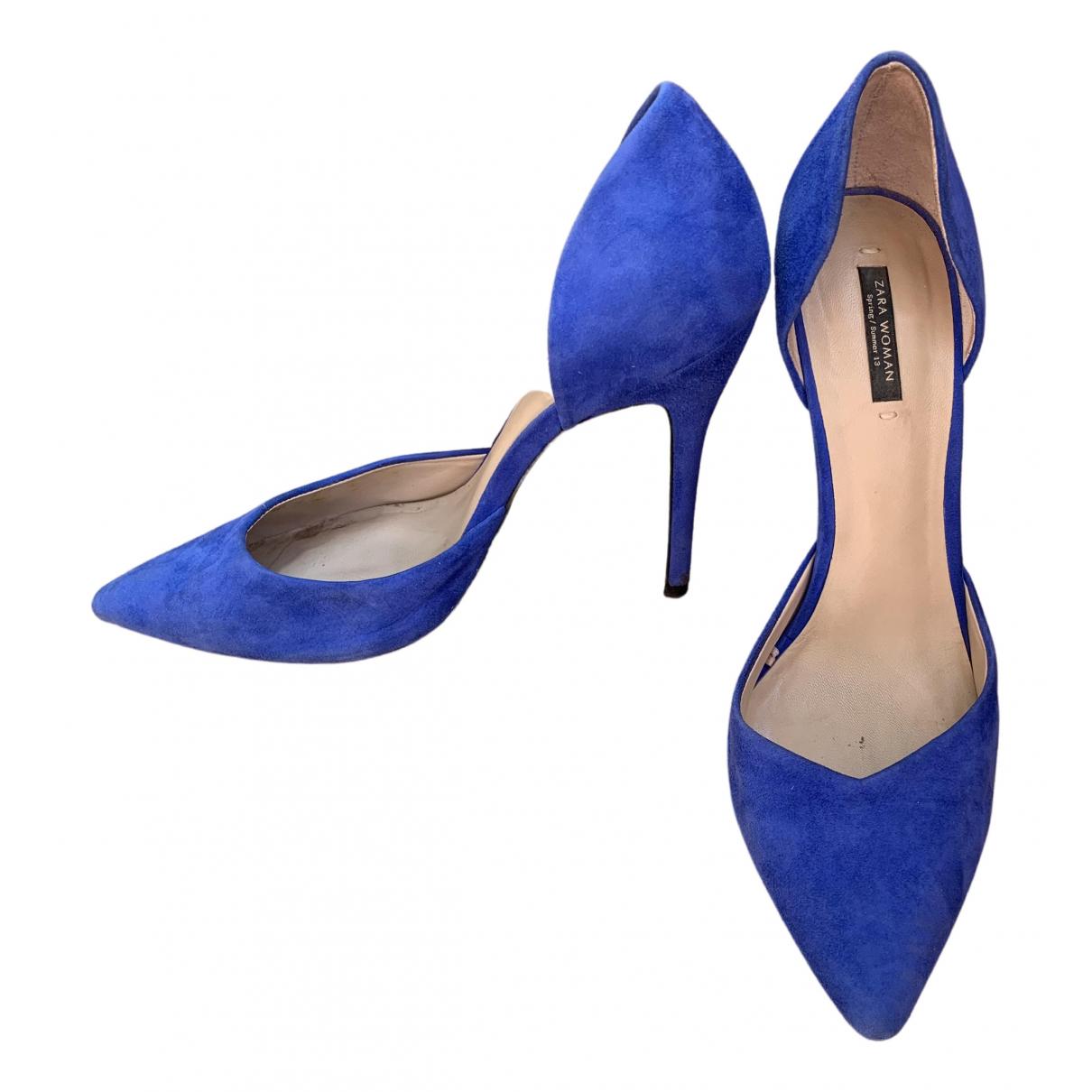 Zara \N Pumps in  Blau Leder