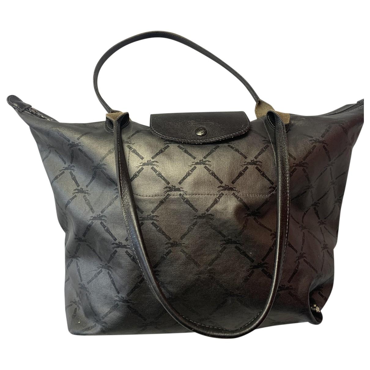 Longchamp - Sac a main Pliage  pour femme en toile - argente