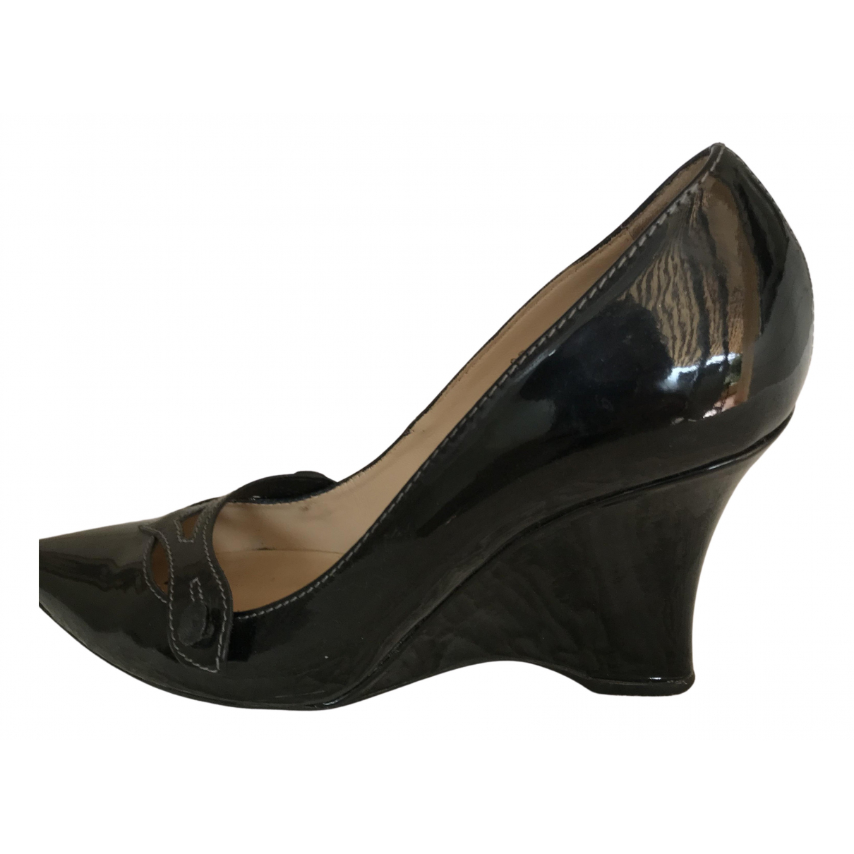 Tod's N Black Patent leather Heels for Women 37 IT