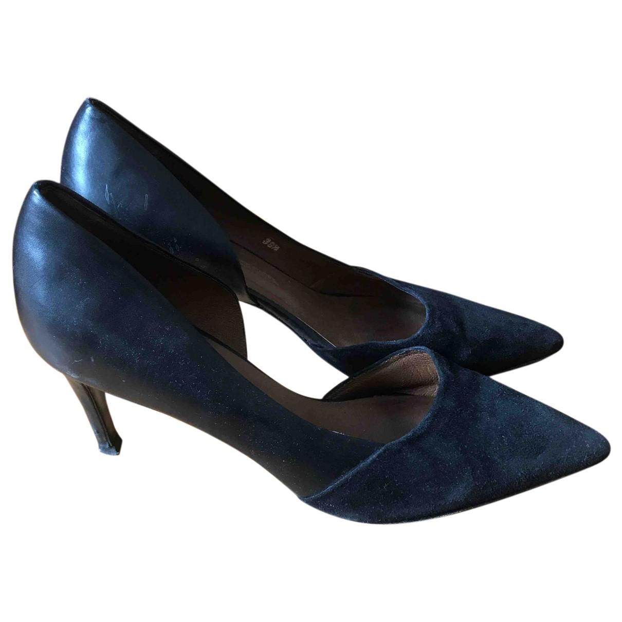 By Malene Birger N Black Leather Heels for Women 39.5 EU