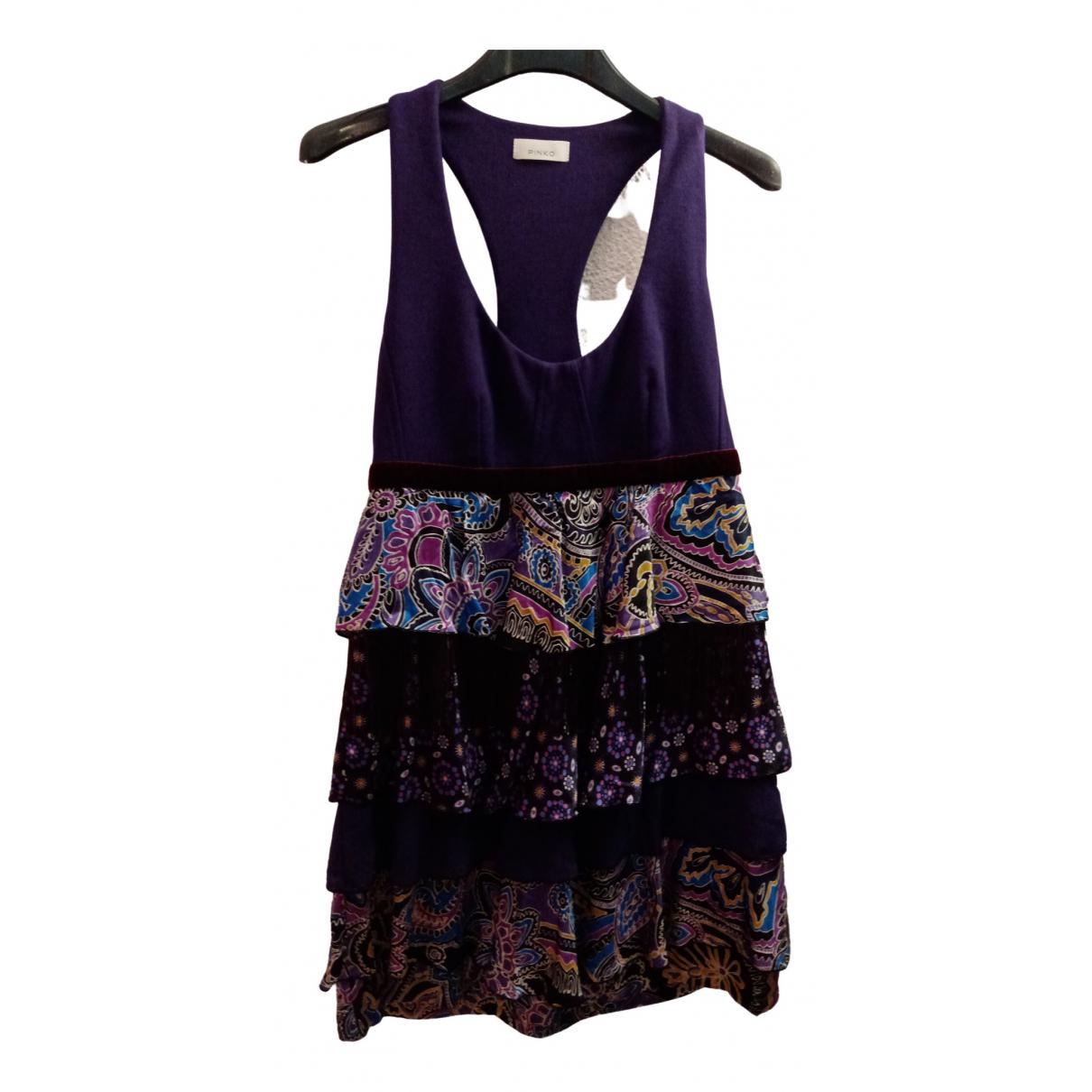Pinko \N Purple Silk dress for Women 42 IT