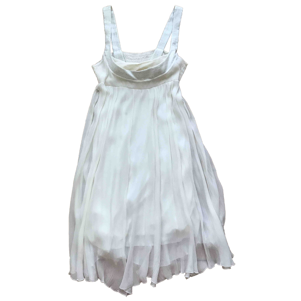 Maje \N White Silk dress for Women 38 FR