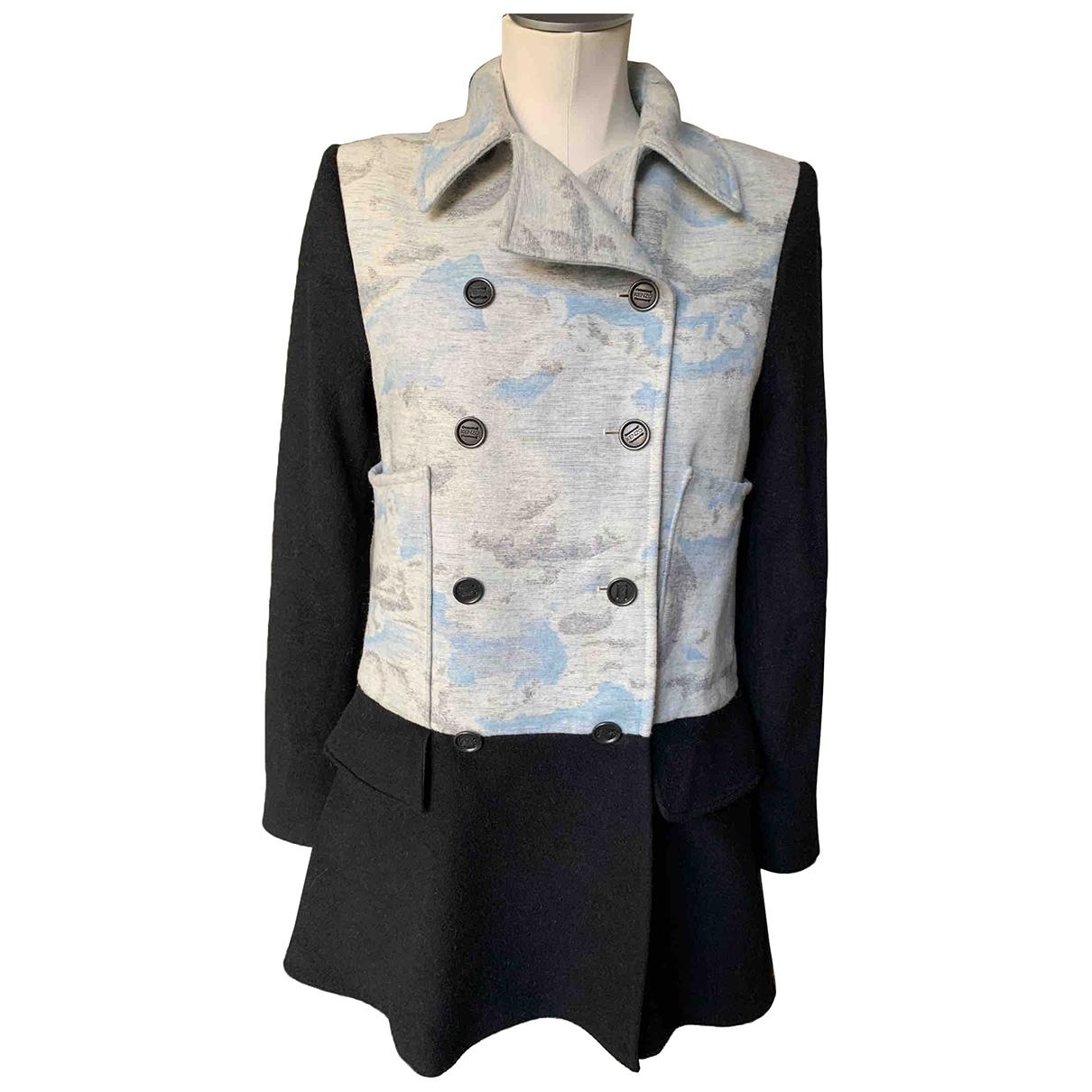Kenzo - Manteau   pour femme en laine - noir