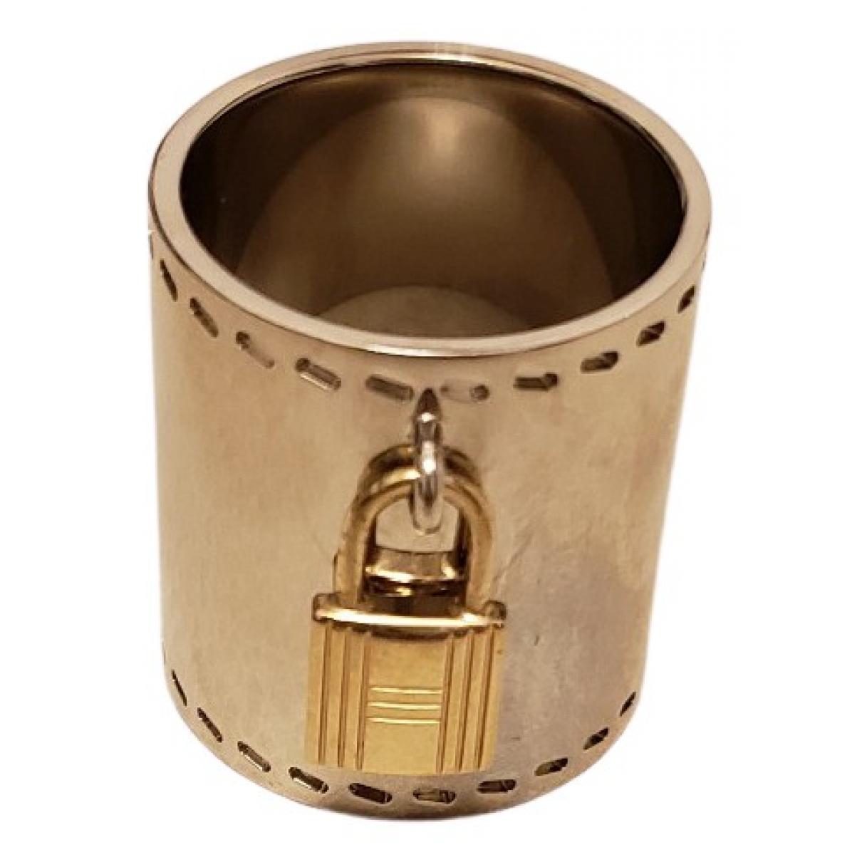 Hermes - Bague Kelly pour femme en acier - argente