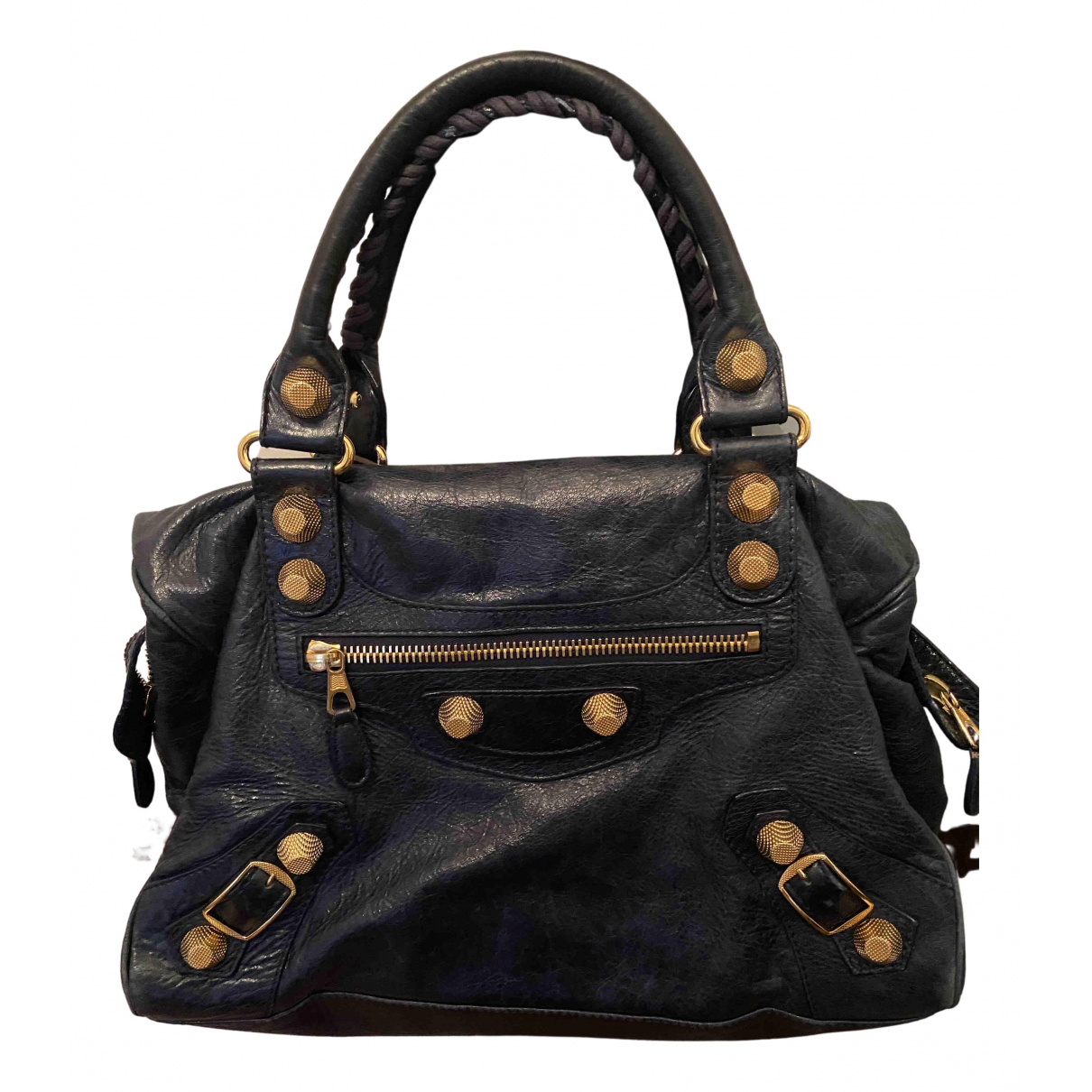 Balenciaga City Blue Leather handbag for Women N