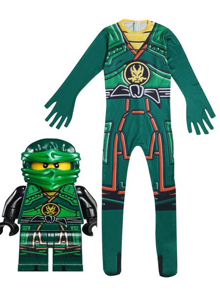 Milanoo Kids Halloween Cosplay Costumes Child Lego Black Jumpsuit Wears