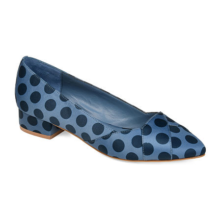 Journee Collection Womens Justine Pointed Toe Slip-on Loafers, 8 1/2 Medium, Blue