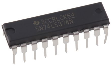 Texas Instruments SN74LS374N Octal D Type Flip Flop IC, 3-State, 20-Pin PDIP (20)