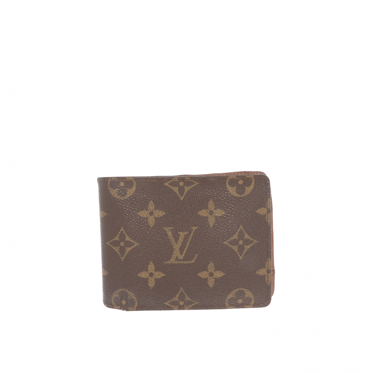 Louis Vuitton \N Portemonnaie in  Braun Leinen