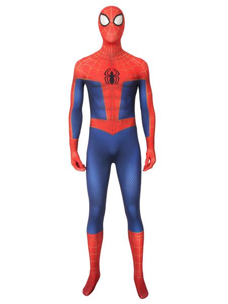 Milanoo Halloween Carnaval Hombre Araña Cosplay Hombre Araña: Into The Spider Verse Animacion De Television Peter Parker Traje De Cosplay Halloween