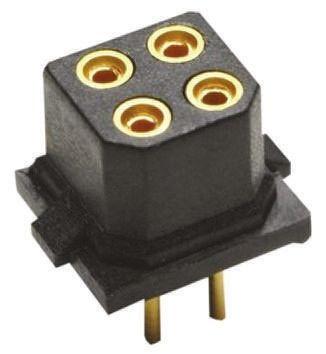 HARWIN , M80 2mm Pitch 4 Way 2 Row Straight PCB Socket, Through Hole, Solder Termination