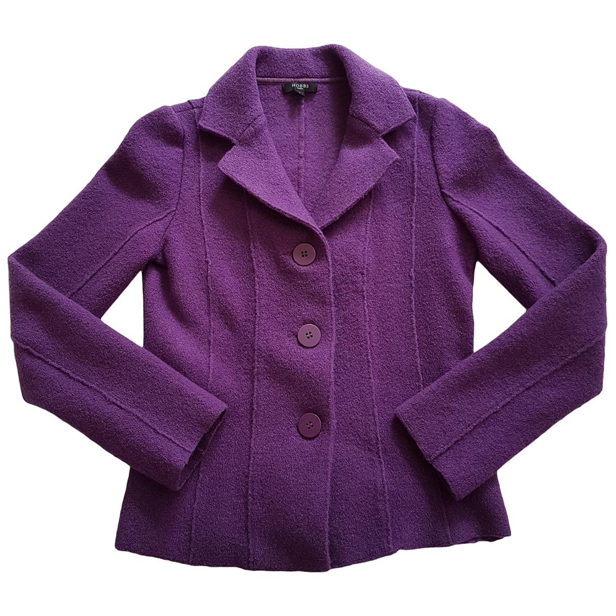 Hobbs \N Purple Wool jacket for Women 8 UK