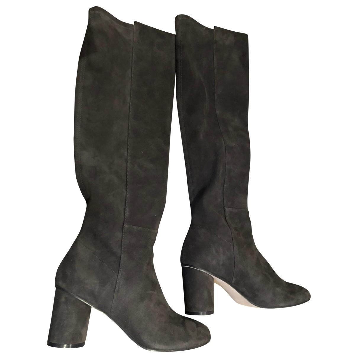 Stuart Weitzman \N Grey Suede Boots for Women 39 EU