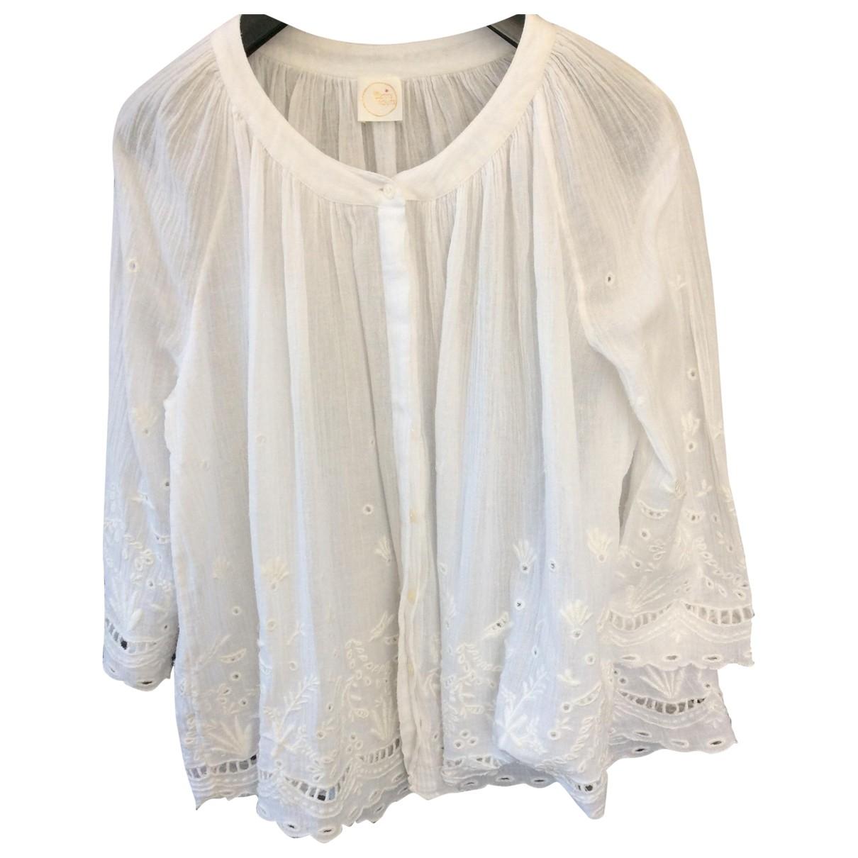 Des Petits Hauts \N White Cotton  top for Women 1 US