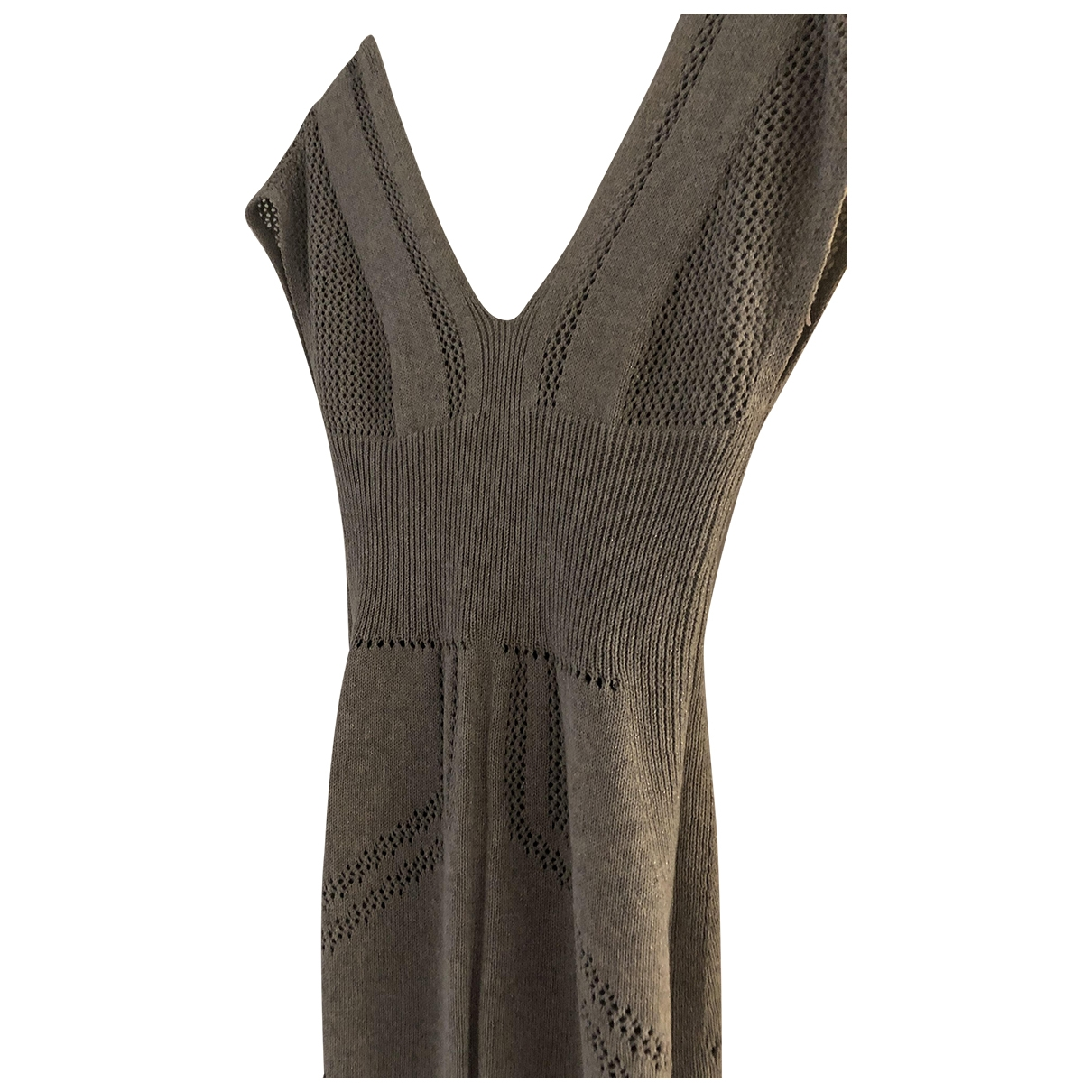 Emporio Armani \N Silver Cotton dress for Women 42 IT