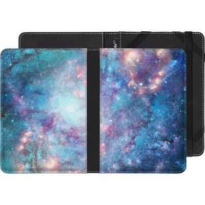 Kobo Aura Edition 2 eBook Reader Huelle - Abstract Galaxy - Blue von Barruf