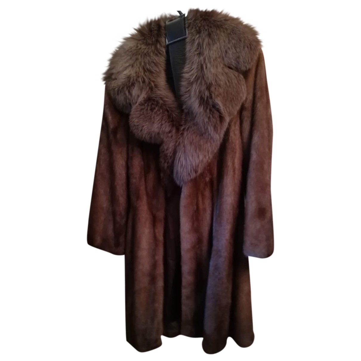 Non Signé / Unsigned \N Brown Mink coat for Women 44 IT